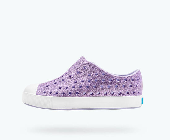 native Jefferson Bling Glitter Child Shoe - Powder