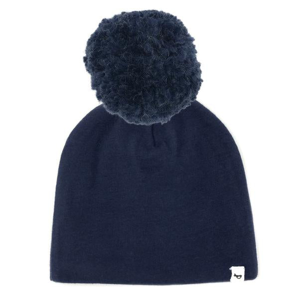 oh baby! Snap Yarn Pom Hat Navy - Navy