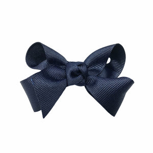 oh baby! Grosgrain Large Ribbon Bow Hair Clip - Navy - oh baby!