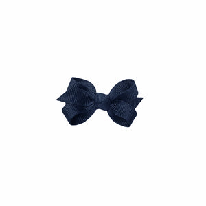 oh baby! Grosgrain Small Ribbon Bow Hair Clip - Navy - oh baby!