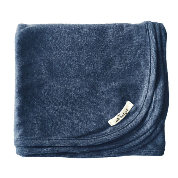 oh baby! Layette Blanket - Navy Heather