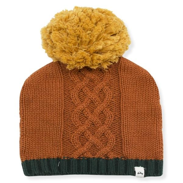 oh baby! Nordic Yarn Pom Hat - Mustard-Rust-Forest