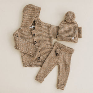 oh baby! Marled Knitted Cardigan Sweater - Oat