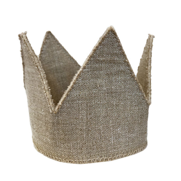 oh baby! Oatmeal Linen Crown - Infant