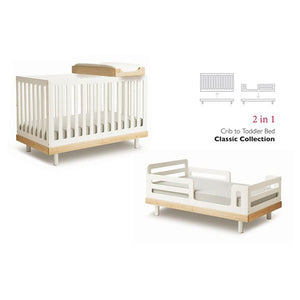 Oeuf Classic Toddler Bed Conversion Kit - White - oh baby!
