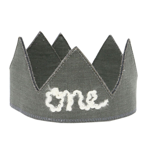 oh baby! Birthday Linen Crown - One - Elephant Gray - oh baby!