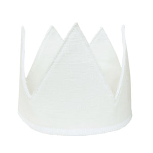 oh baby! Oyster Linen Crown - Infant