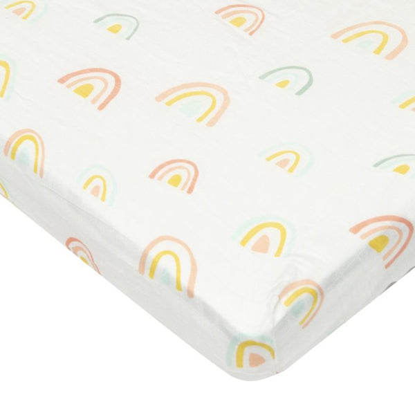 Loulou Lollipop - Fitted Crib Sheet Pastel Rainbow