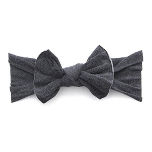 Knot Bow Pattern Headband - Stonewash Charcoal