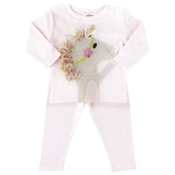 feae680eec54 oh baby! Two Piece Set - Star Unicorn - Pale Pink