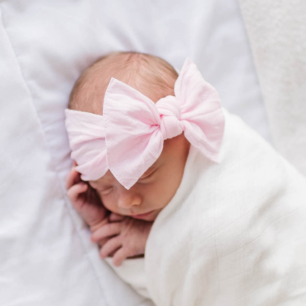 Knot Bow Headband - Pink