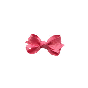 oh baby! Grosgrain Small Ribbon Bow Hair Clip - Pink - oh baby!