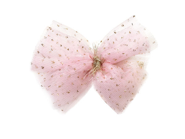 oh baby! Glinda Bow Pinch Clip - Pink/Gold