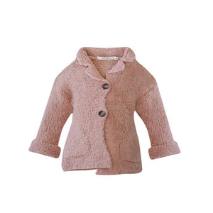 Message In The Bottle Baby Cardigan with Front Pockets - Pink Light