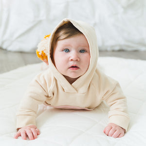 oh baby! Rainbow Pocket Hooded Sweatshirt - Blush Natural