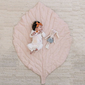 oh baby! Linen Playmat Apple Leaf - Blush