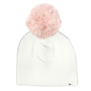 oh baby! Snap Yarn Pom Hat Pale Pink - Cream