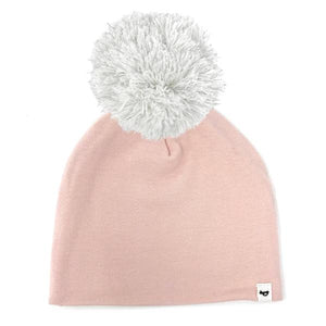 oh baby! Snap Yarn Pom Hat Silver Stardust - Pale Pink