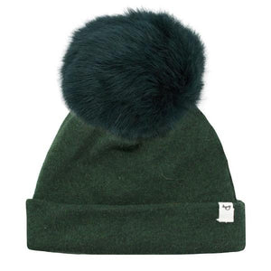 oh baby! Snap Fur Pom Hat Forest - Forest