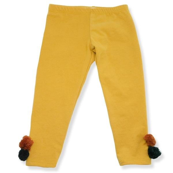 oh baby! Yarn Pom Leggings - Mustard