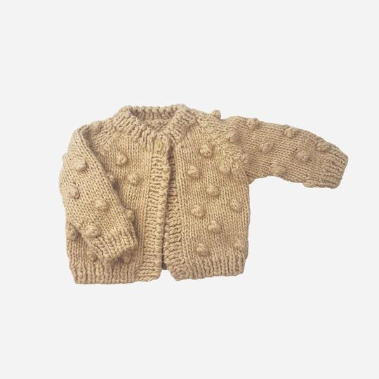 Popcorn Knit Cardigan - Latte