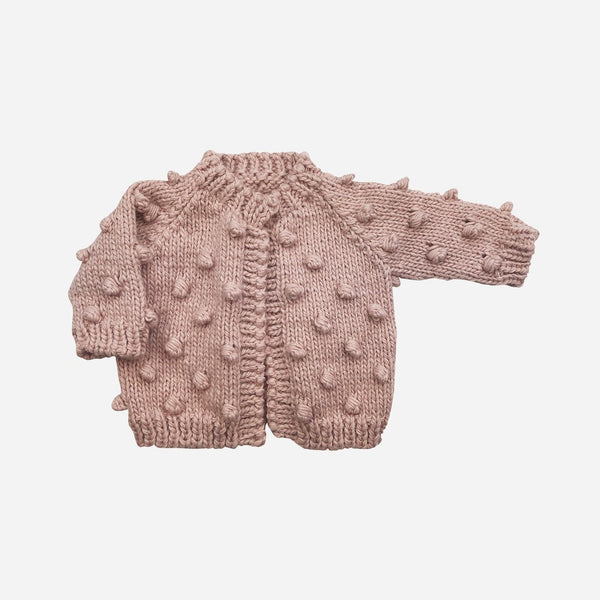 The Blueberry Hill Popcorn Knit Cardigan - Pink