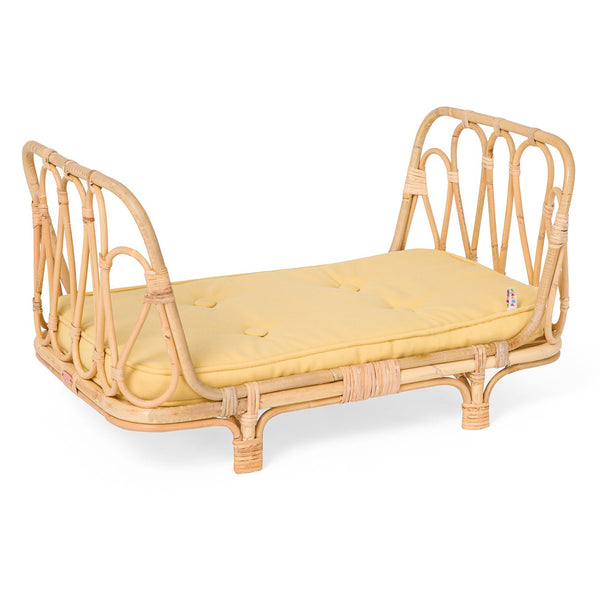 Poppie Rattan Doll Day Bed - Yellow
