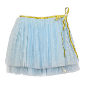 oh baby! Glinda Wrap Skirt - Infant - Powder Blue/Gold