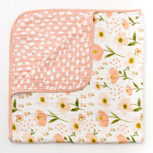 Clementine Kids - Reversible Quilt - Blush Bloom - oh baby!