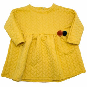 oh baby! Prairie Dress Quilted Cable, Mustard