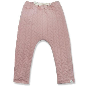 oh baby! Brooklyn Jogger Quilted Cable, Blush