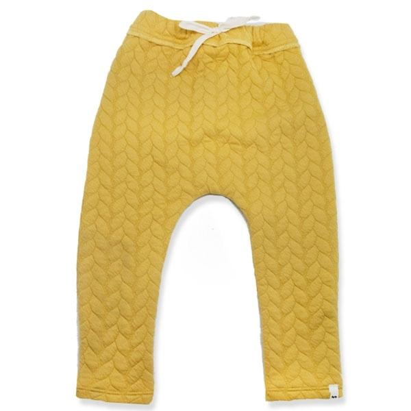 oh baby! Brooklyn Jogger Quilted Cable, Mustard