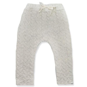 oh baby! Brooklyn Jogger Quilted Cable, Oatmeal Heather