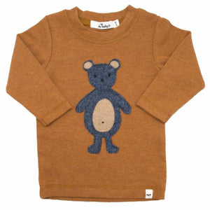 oh baby! Long Sleeve Tee - Ragdoll Teddy Bear Navy - Rust