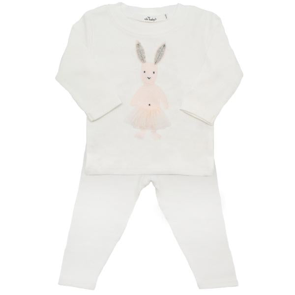 oh baby! Two Piece Set - Ragdoll Bunny with Ivory Skirt - Cream