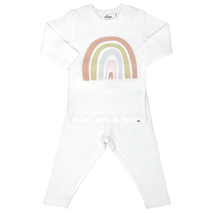 oh baby! Two Piece Set - Stardust Rainbow - Cream