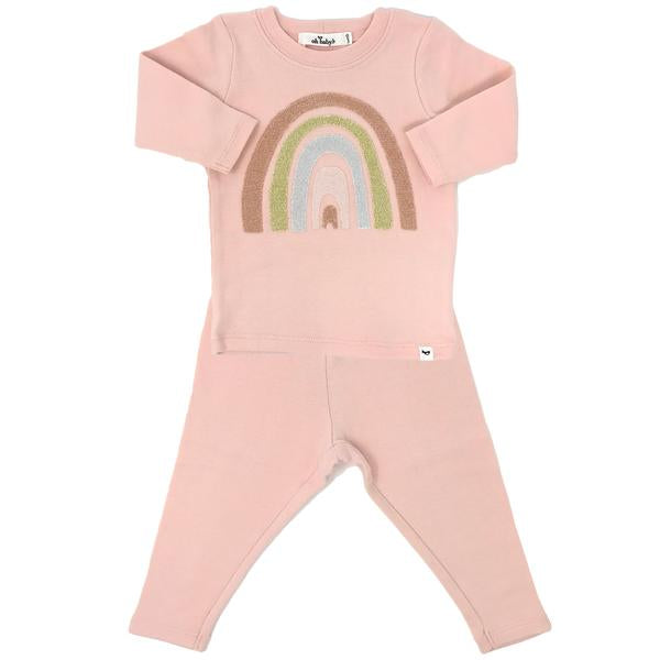 oh baby! Two Piece Set - Stardust Rainbow - Pale Pink