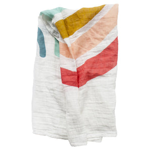 Clementine Kids - Single Swaddle Blanket - Rainbow - oh baby!
