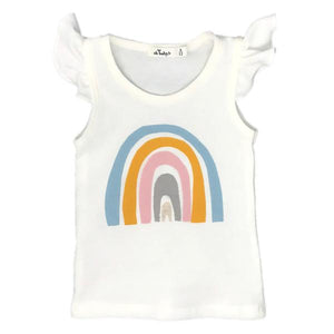 oh baby! Flutter Tank - Spring Rainbow - Cream