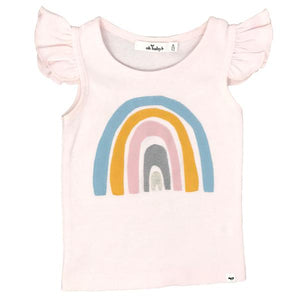 oh baby! Flutter Tank - Spring Rainbow - Pale Pink