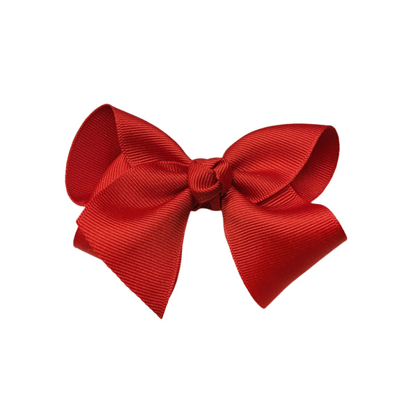 oh baby! Grosgrain Large Ribbon Bow Hair Clip - Red - oh baby!
