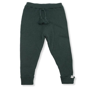 oh baby! Ribbed Knit Legging - Forest Green