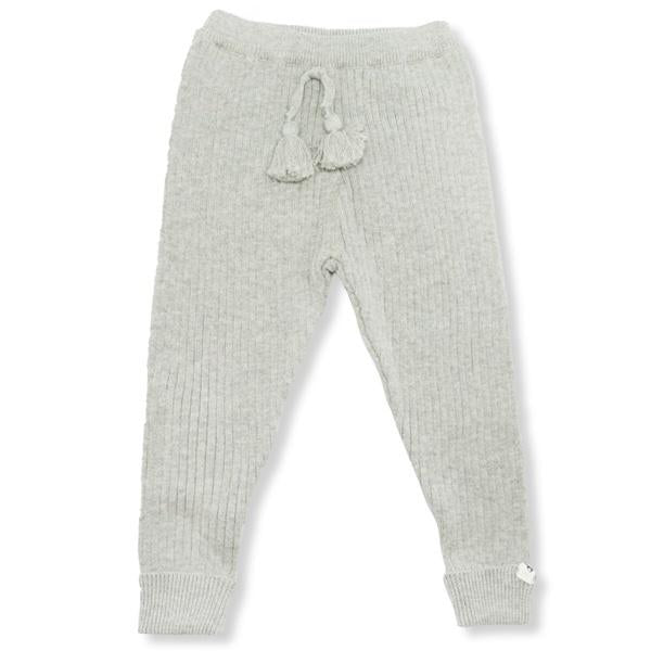 oh baby! Ribbed Knit Legging - Gray
