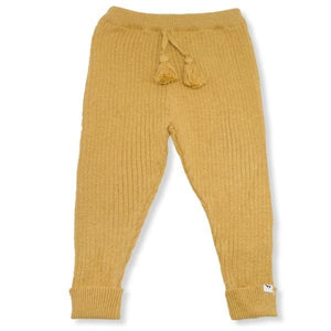 oh baby! Ribbed Knit Legging - Mustard