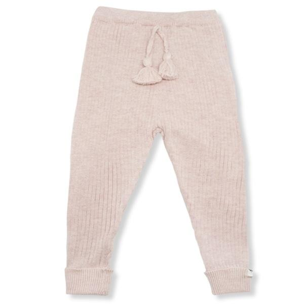 oh baby! Ribbed Knit Legging - Pale Pink