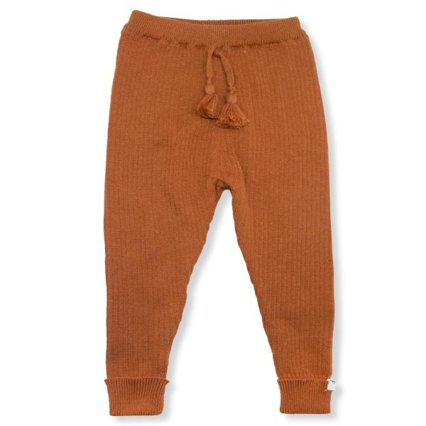 oh baby! Ribbed Knit Legging - Rust