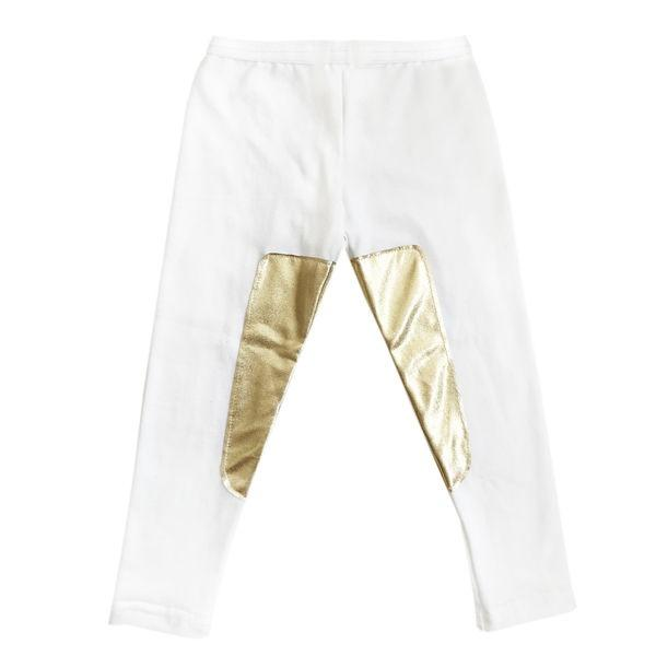 oh baby! Riding Pants with Gold Accent - Cream