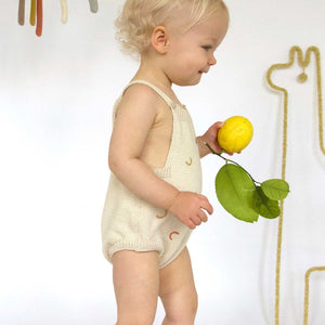 Blabla Hockney Knit Romper - Oatmeal