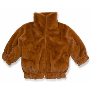 oh baby! Faux Fur Coat in Rust - Adult