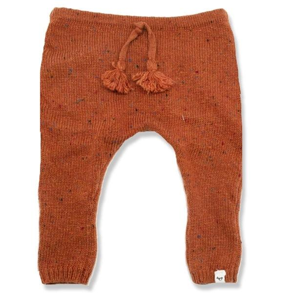 oh baby! Flat Knit Dappled Jogger, Rust
